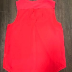 Bright Pink Button Front Tank